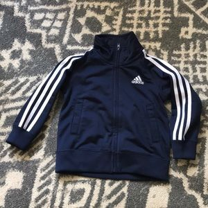 Adidas 18 months baby zip up blue long sleeved